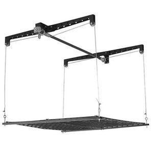 Image Is Loading Overhead Garage Storage Rack Ceiling Lift Platform Cable