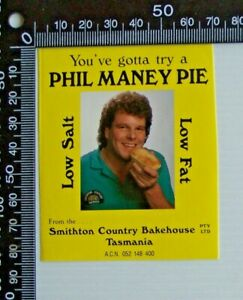 VINTAGE-SMITHTON-COUNTRY-BAKEHOUSE-TASMANIA-PHIL-MANEY-PIE-ADVERTISING-STICKER