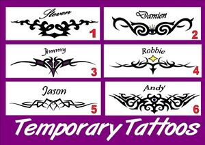 fake-custom-TRAMP-STAMP-TEMPORARY-bum-TATTOO-your-own-name-PERSONALISED-6-styles
