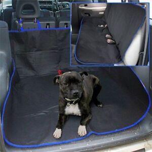 BLUE-WATERPROOF-CAR-REAR-SEAT-BOOT-LINER-PROTECTOR-HAMMOCK-FLOOR-COVER-DOG