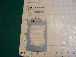 vintage-1955-Information-brochure-for-DISNEYLAND-in-Anaheim-Calif-w-map-inside