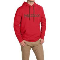 Marmot Men's Red Graphic Cotton Fleece Lined Pullover Hoodie Jacket, Size L