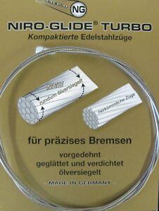 3000 mm Bremszug in Überlänge von Niro Glide mit Quernippel MTB/Trekking