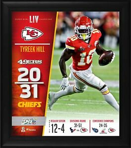 "Tyreek Hill Kansas City Chiefs Framed 15"" x 17"" Super Bowl LIV Champions Collage"