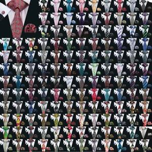 Mens-Silk-Tie-Set-160-Style-Jacquard-Woven-Necktie-Set-Wedding-Party-Hot-ON-SALE