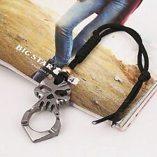 Outdoor Survival Emergency Hammer Rescue Gear Alloy Keychain Self Defense Tool