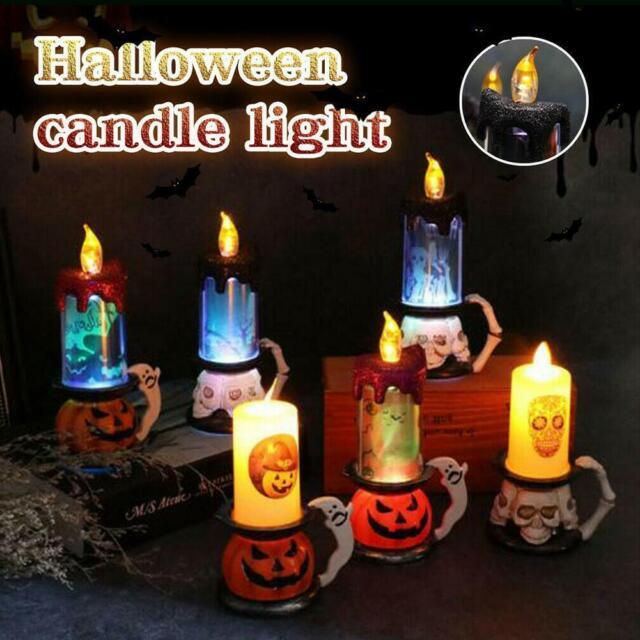Halloween LED Skull-pumpkin Candle-light Haunted House Bar KTV Party Decor