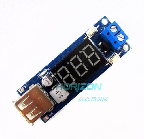 2in1 4.5-40V DC To 5V 2A USB Charger DC-DC Step-Down Converter Voltmeter Module