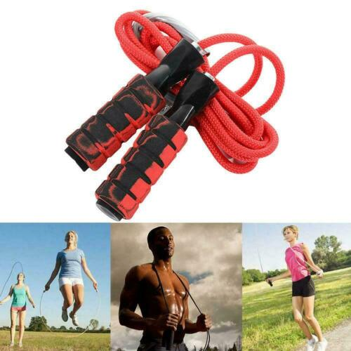 Exercise Boxing Skipping Jump Rope Adjustable Bearing Home Speed Y7S5