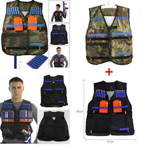 2pcs Adjustable Tactical Vest with Storage Pockets for Nerf N-Strike Elite Team
