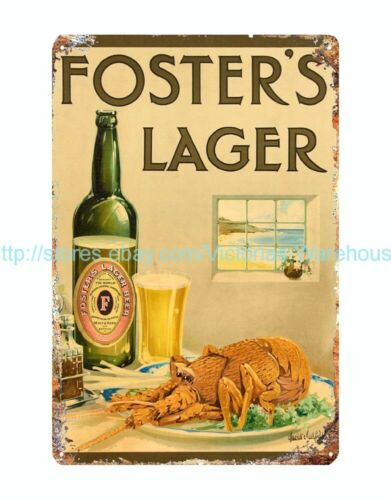 beer Foster/'s Lager metal tin sign retro garage decor