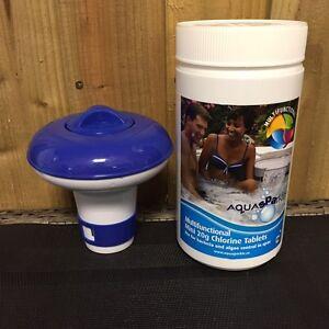 1kg-of-20g-Chlorine-Tablets-Pool-Hot-Tub-Spa-Floating-Chlorine-Dispenser