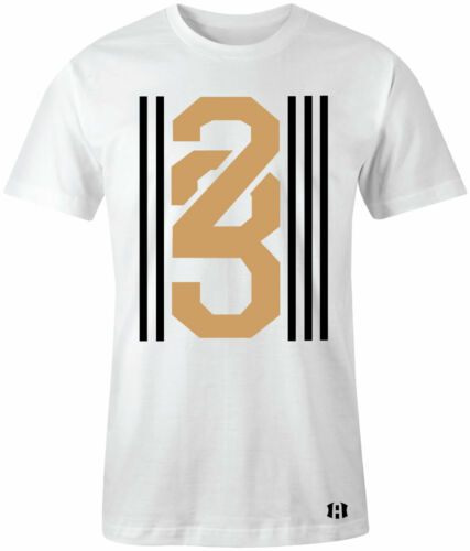 """/""""23 STRIPES/"""" T-shirt to Match Retro 5 /""""OLYMPIC/"""" Gold Medal"""