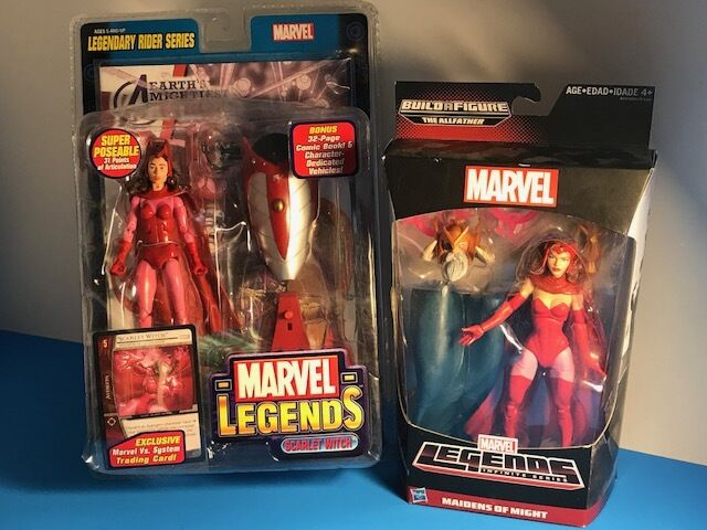 MARVEL LEGENDS ACTION FIGURE SCARLET WITCH LOT LEGENDARY RIDER MAIDENS MIGHT MOC