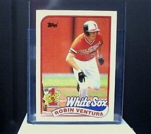 Details About 1989 Topps Tiffany 764 Robin Ventura Rookie Card White Sox Nm Mt