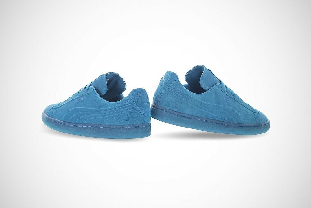 PUMA homme Suede Emboss Iced Fluo Fashion Sneakers, Atomic Bleu, 11 US