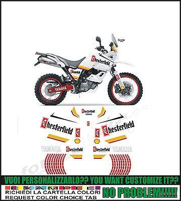 Kit adesivi decal stikers yamaha xt 660 z tenere 2008 replica shell possibilit/à di personalizzare i colori
