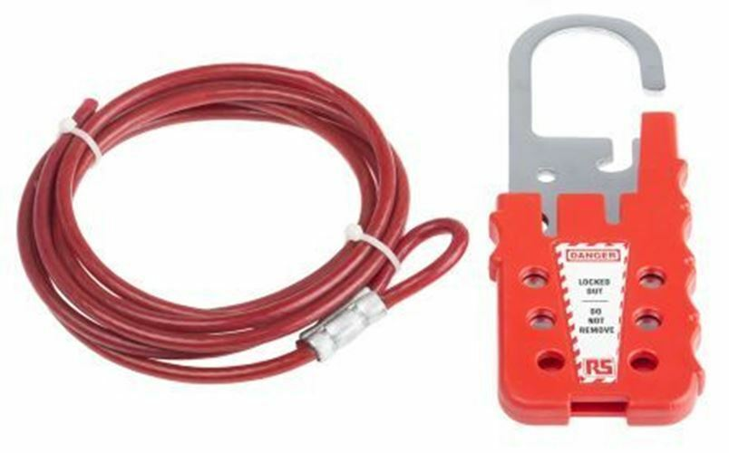 6 Candado Pp Cable Traba