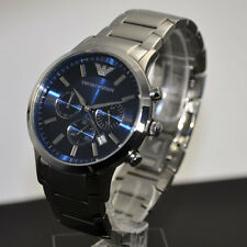 EMPORIO ARMANI MENS BLUE DIAL STAINLESS STEEL CHRONOGRAPH WATCH AR2448 NO BOX