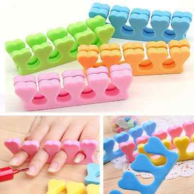 10x  Nail Art Soft Sponge Foam Finger Toe Separator Salon Pedicure Manicure Tool