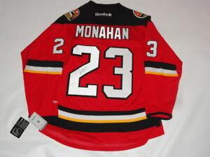 Sean Monahan Signed Calgary Flames 23 Alternate Jersey Licensed