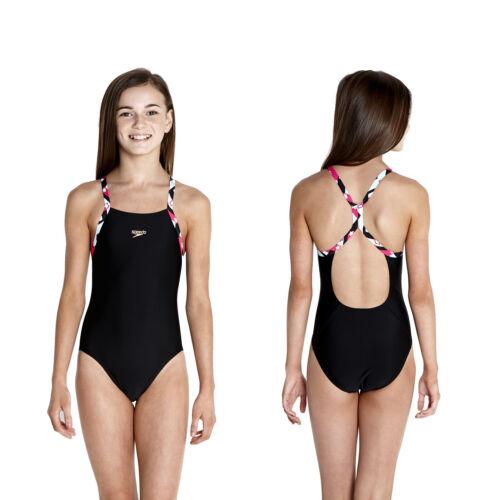 Speedo Badeanzug Schwimmanzug Mädchen Junior Rippleback Endurance 10 Sterne 9645