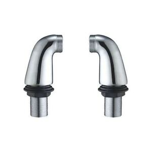 bathroom chrome bath mixer tap legs adapter pillars