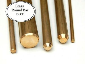Brass Round Bar 25 mm Various Lengths Available