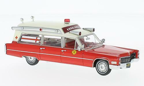 Cadillac s&s ambulance fire rescue 1 43 model neo  scale models  marque