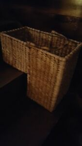 Image Is Loading 16 034 Wicker Storage Stair Basket With Handle