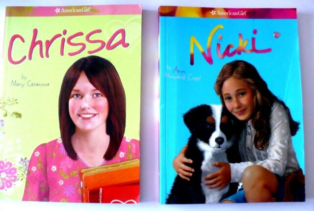 Lot-2- American Girl: Chrissa by Mary 2009 & Nicki by Ann 2007 (paperback)