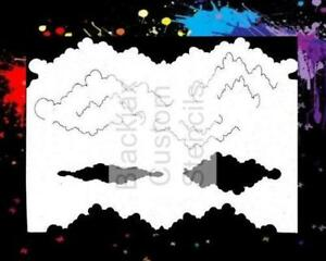 Details about Clouds 01 Airbrush Stencil,Template