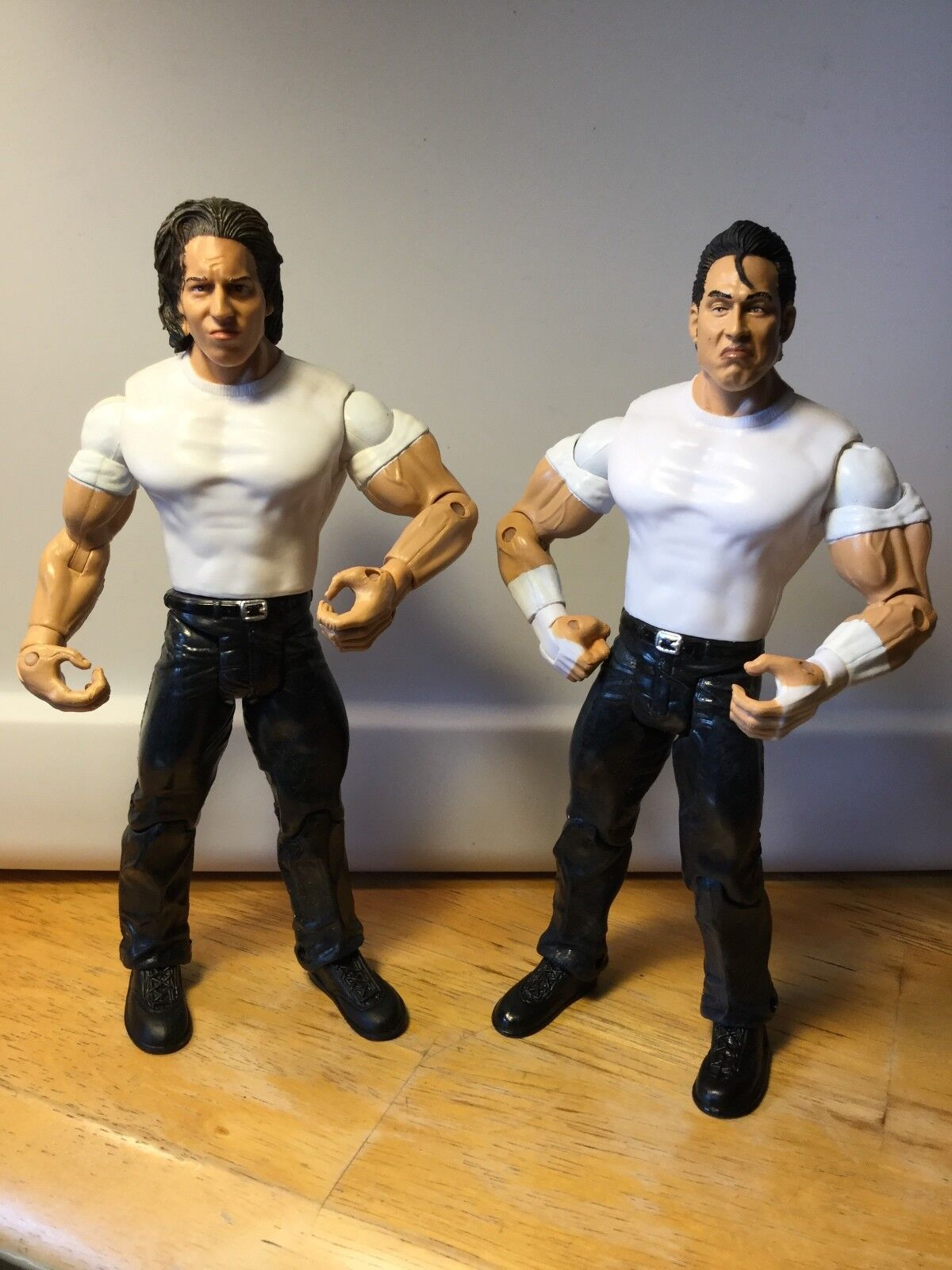 DUECE & DOMINO CLIFF COMPTON WWE RUTHLESS AGGRESSION  FIGURES