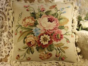 16-034-Floral-Elegant-Multiple-Banquets-Handmade-Needlepoint-Pillow-Cushion