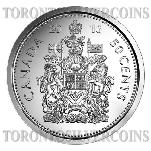 """2016 Canada Canadian 50-cent /"""" Half Dollar/"""" Coin from Fresh Roll In Stock"""