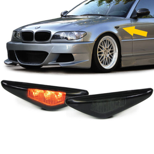 LED SMOKED SIDE REPEATERS INDICATORS FOR BMW E46 COUPE /& CONVERTIBLE NICE GIFT