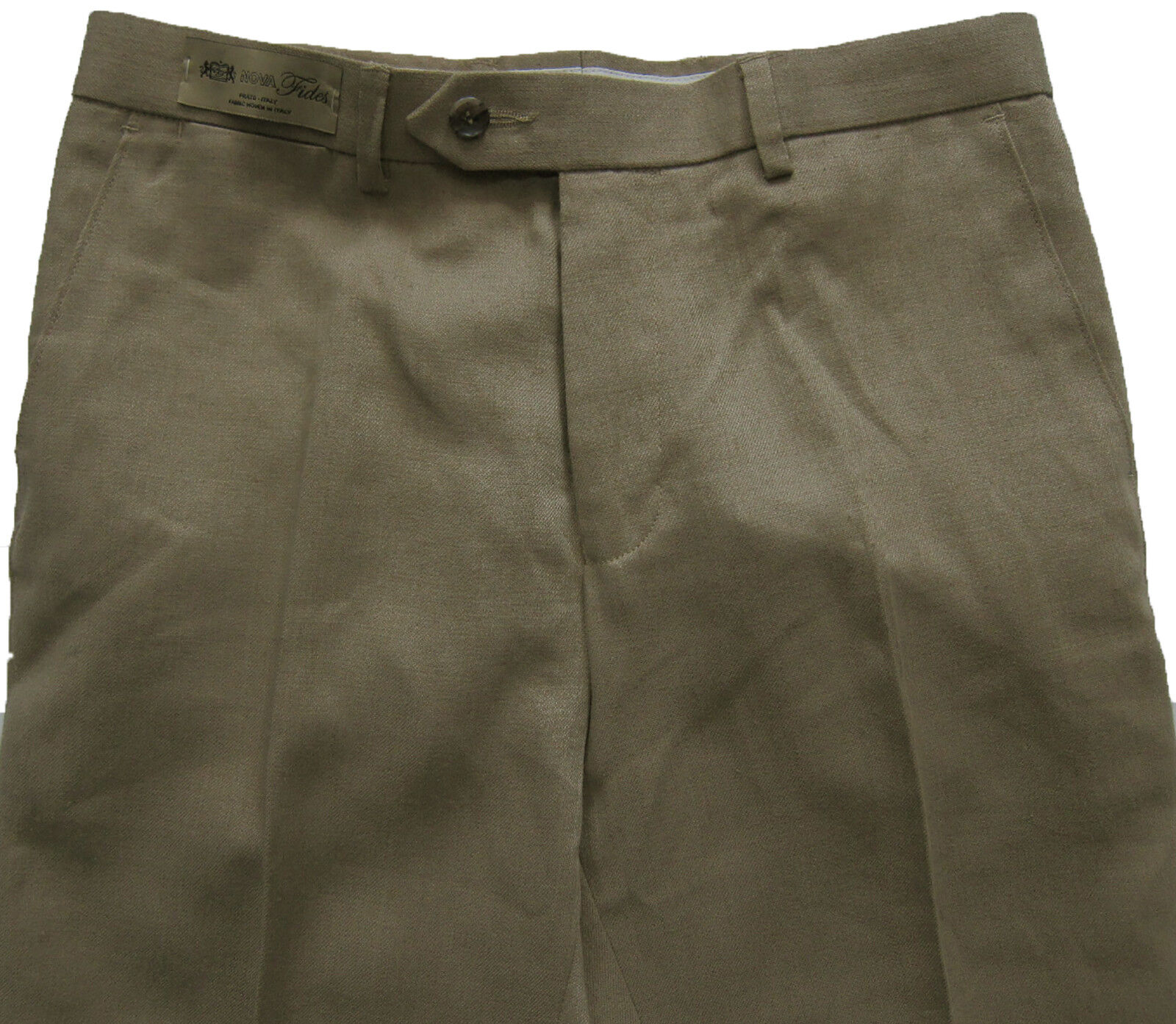 New Mens Marks & Spencer Collezione Brown Linen Trousers Waist 42 36 34 30 .5