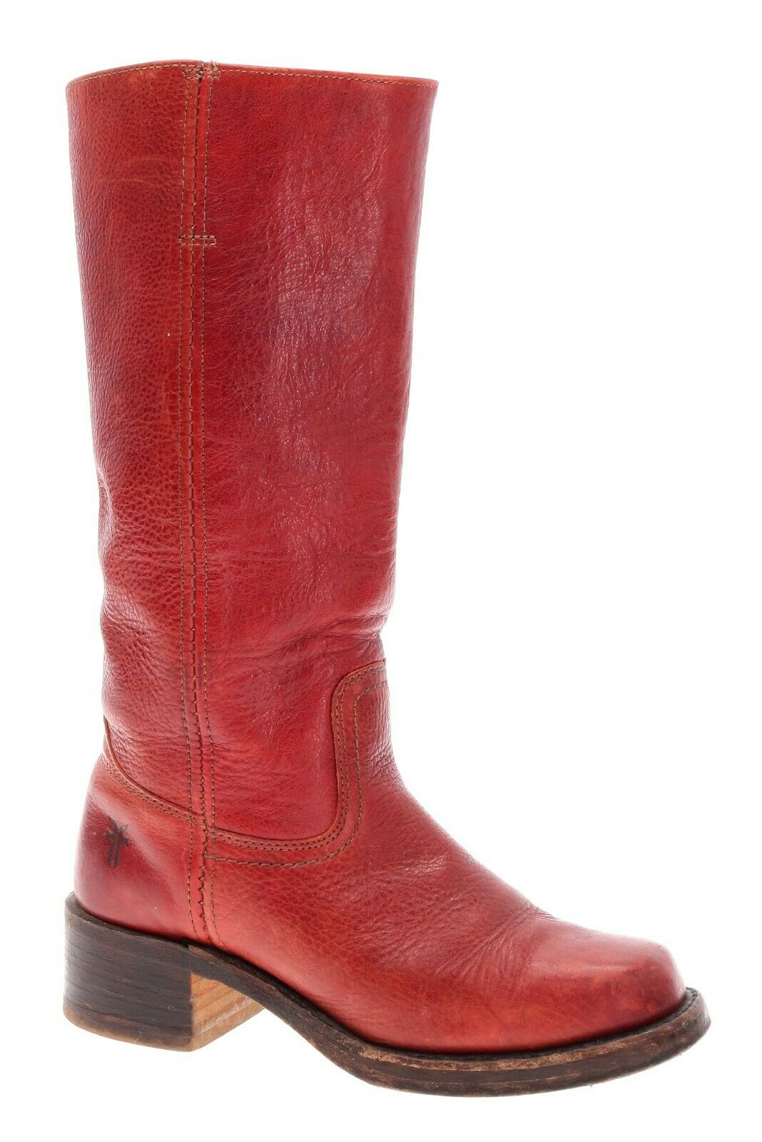 VINTAGE USA Mens rosso FRYE CAMPUS stivali Leather Tall MOTORCYCLE stivali Dimensione 6.5 M