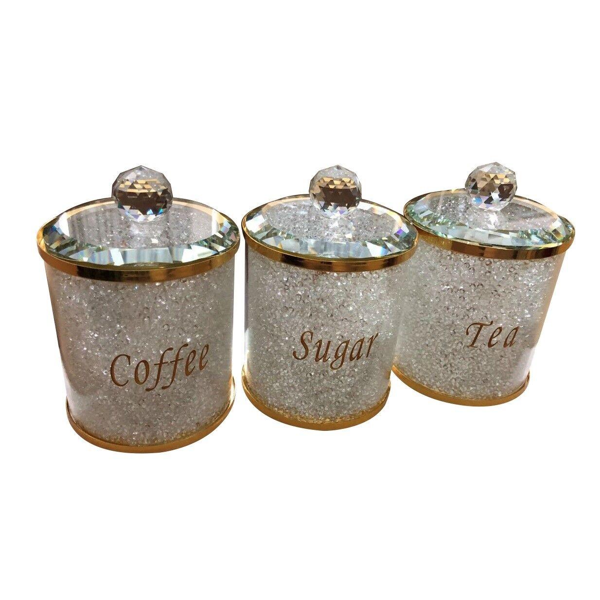 Nuovo Tè Caffè Zucchero Contenitore Set Vaso per Conserve