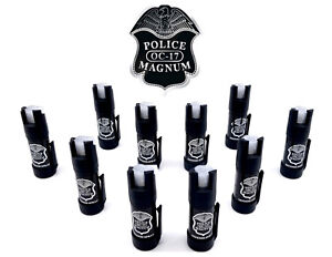10 Pack Police Magnum Pepper Spray GID Bottom Clip Defense Security Protection