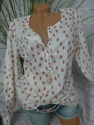 CHEER Ausbrenner Shirt 42 grau gemustert Strass Tunika-Shirt langarm neu