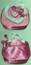 Kinder Tasche Plüsch mit Herz in Pink NEU mit Lipgloss und Nagellack
