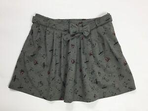 Gonna-corta-minigonna-usato-donna-pieghe-grigio-size-w30-tg-44-plissettata-T4065