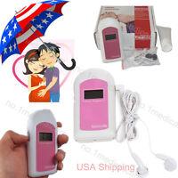 Ultrasound Fetal Doppler Pocket Baby Heart Beat Monitor, Gel+cable+earphone,fda