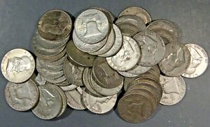 3-FACE-VALUE-of-FRANKLIN-HALF-DOLLARS-90-SILVER-LOT-OF-6-COINS
