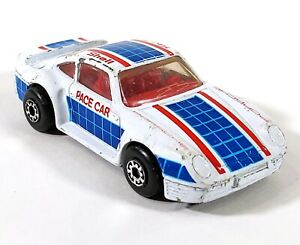 Matchbox-Porsche-959-White-Shell-Race-Car-1-58-1986-Vintage-Diecast-Macau-D164