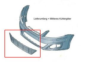 Original-SEAT-Spoiler-Kuehler-Gitter-Grill-vorne-unten-Alhambra-7N