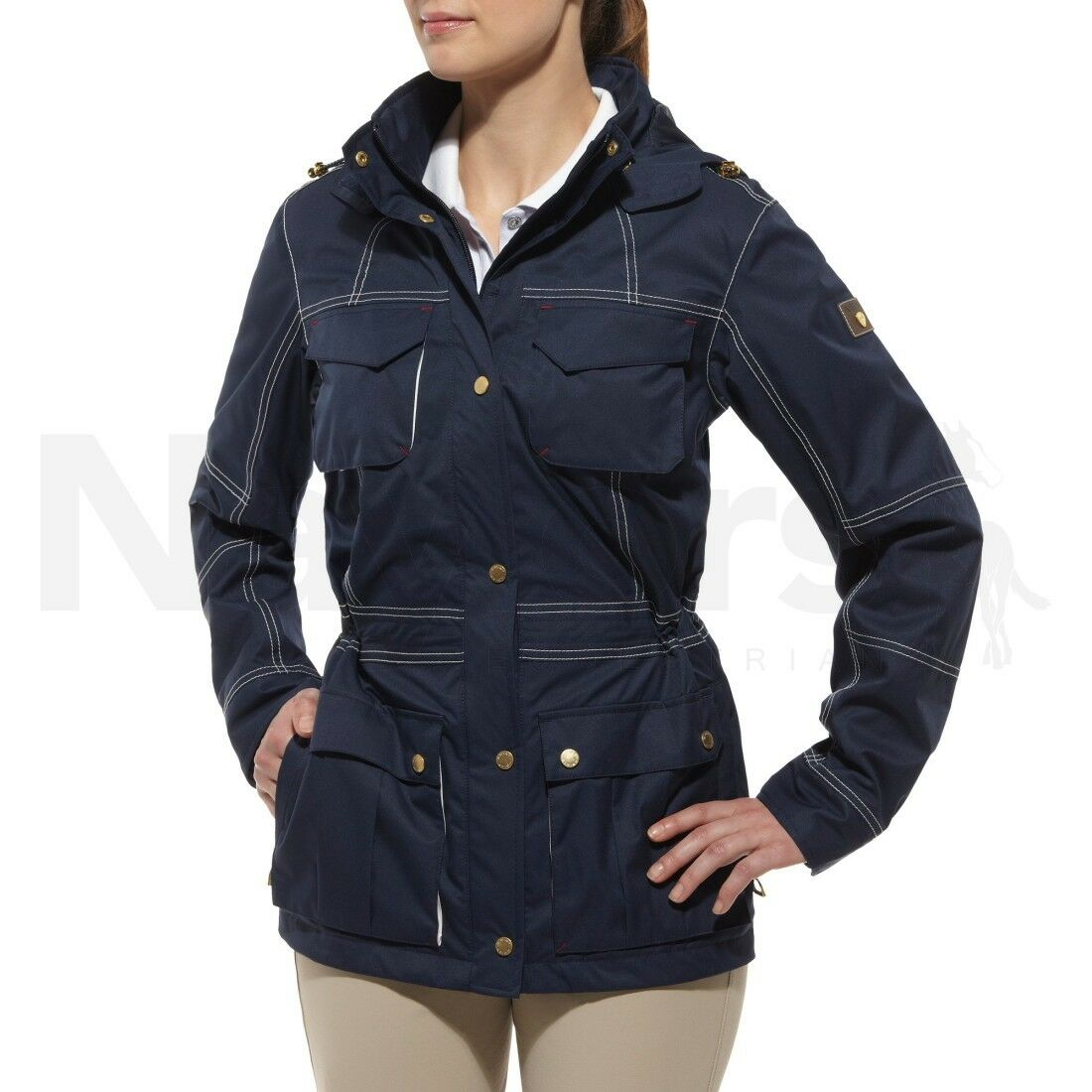 Ariat ® Damas Madeley Impermeable Parka Azul Marino