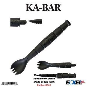 Ka-Bar #9909 Tactical Fourchette Cuillère-Fourche Outil avec la lame du couteau- Made In Usa- Camping-afficher le titre d`origine 4tG14buV-07135026-646732843