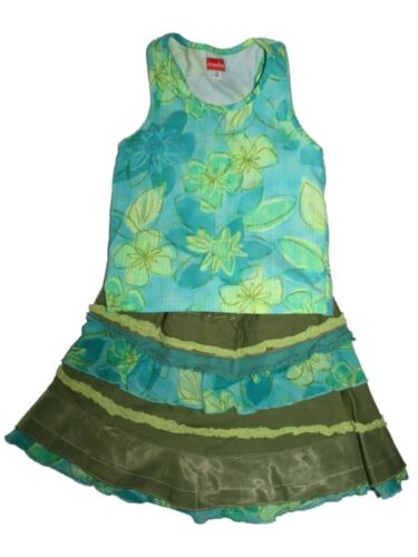 Girl Marese Tank Top Shirt Twirl Skirt Set Blue Green Outfit Size 46 102 113